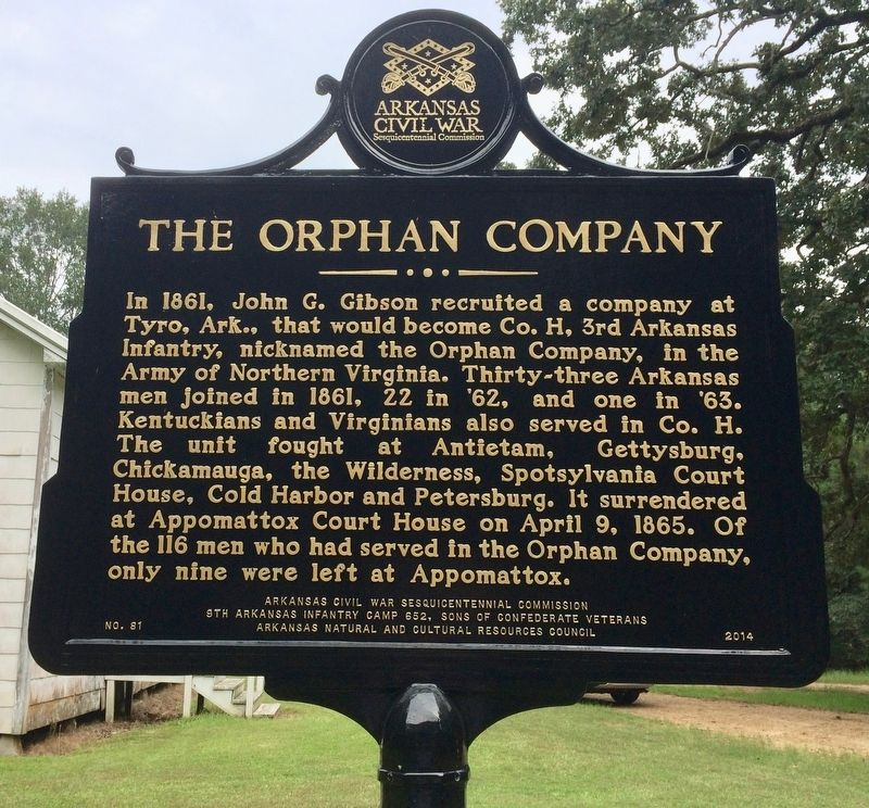 The Orphan Company Marker image. Click for full size.
