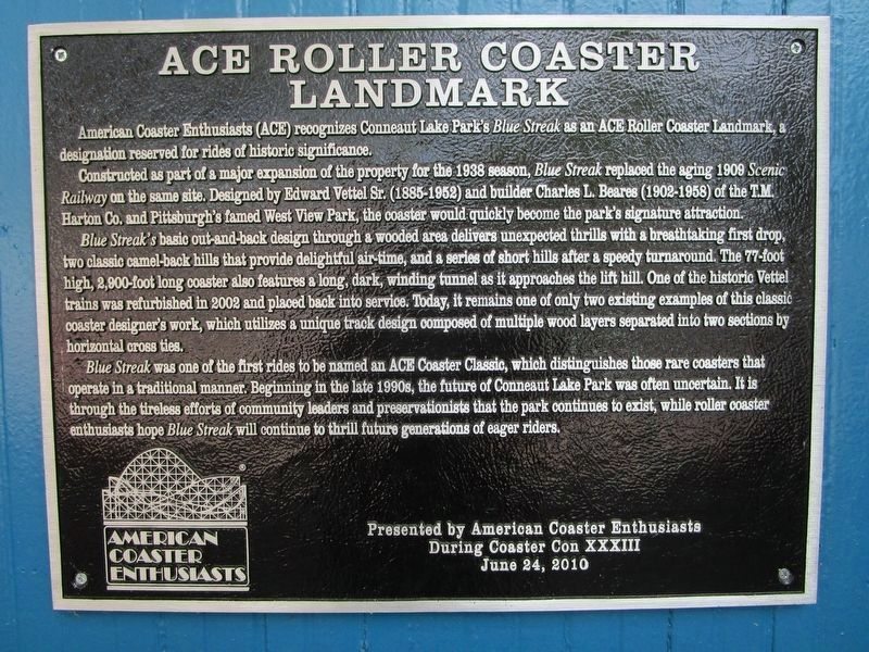 The Blue Streak ACE Marker image. Click for full size.