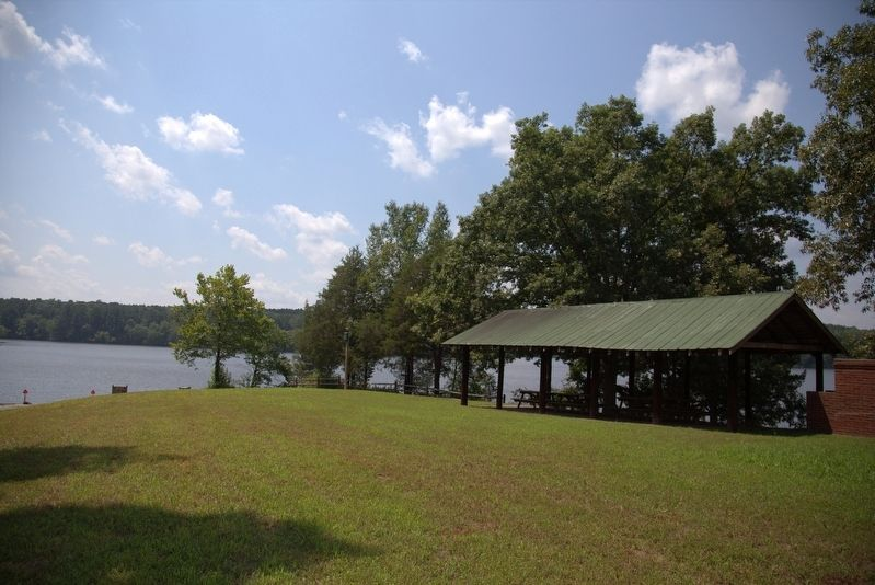 Camp Pickett Lake, a few steps from the marker image. Click for full size.