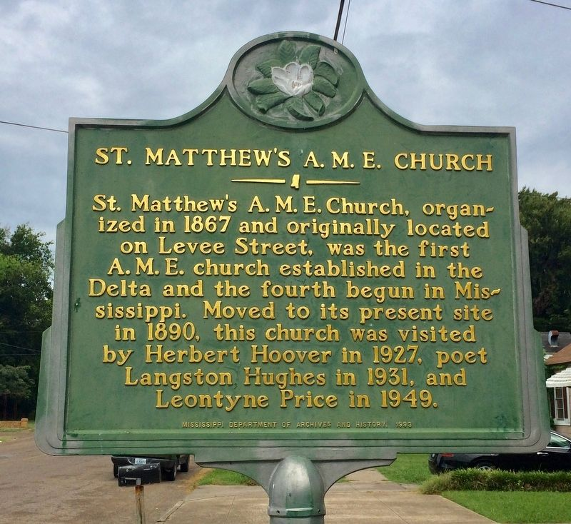 St. Matthew's A. M. E. Church Marker image. Click for full size.