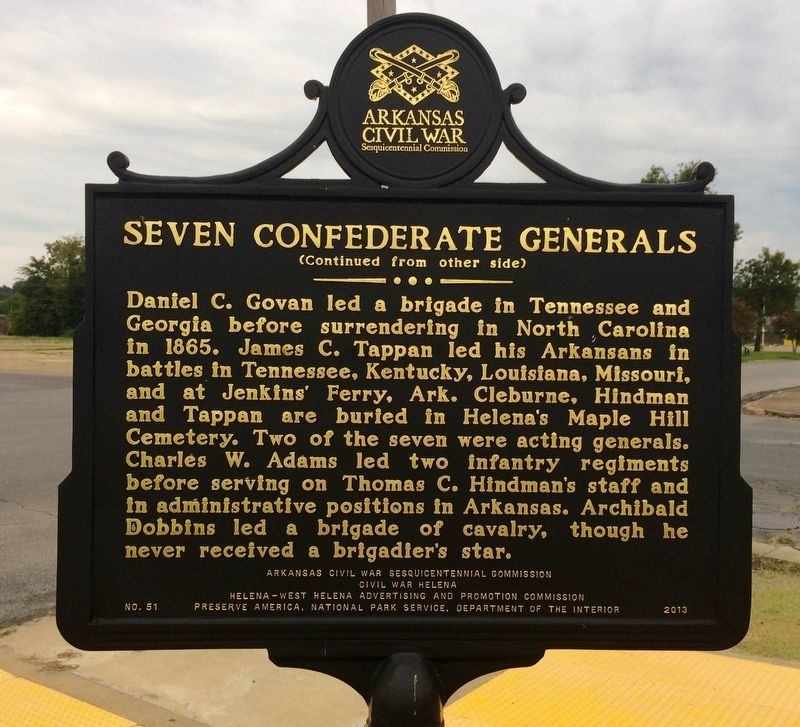 Seven Confederate Generals Marker (Rear) image. Click for full size.