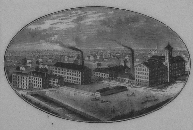 Marker Detail: Fletcher Manufacturing Company c1895 image. Click for full size.