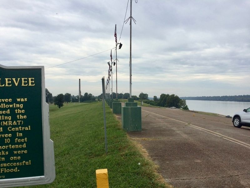 View south on the Mississippi River & Levee. image. Click for full size.