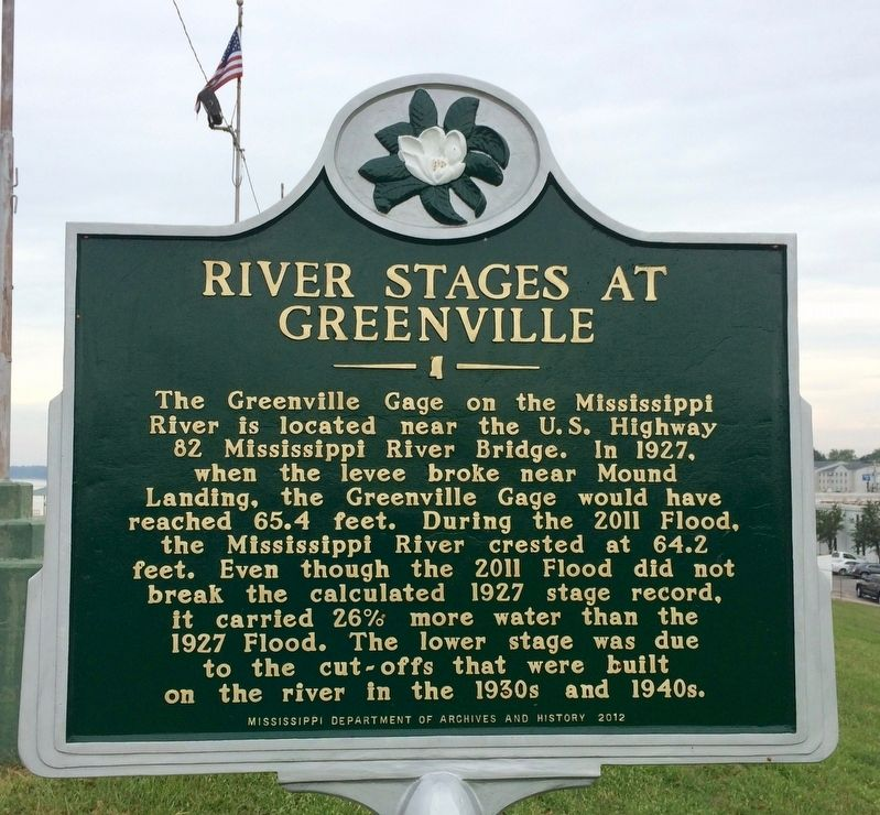 River Stages At Greenville Marker image. Click for full size.