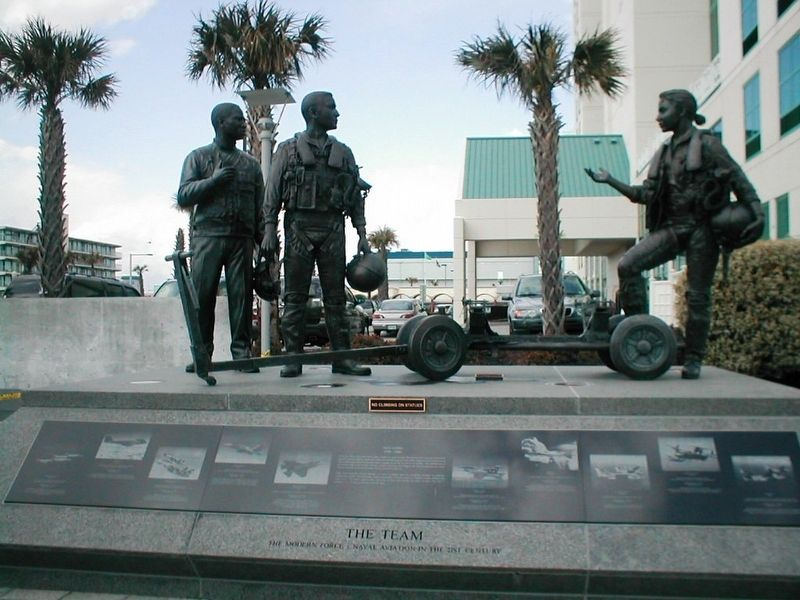 Naval Aviation Monument Park-Statue 3 image. Click for full size.