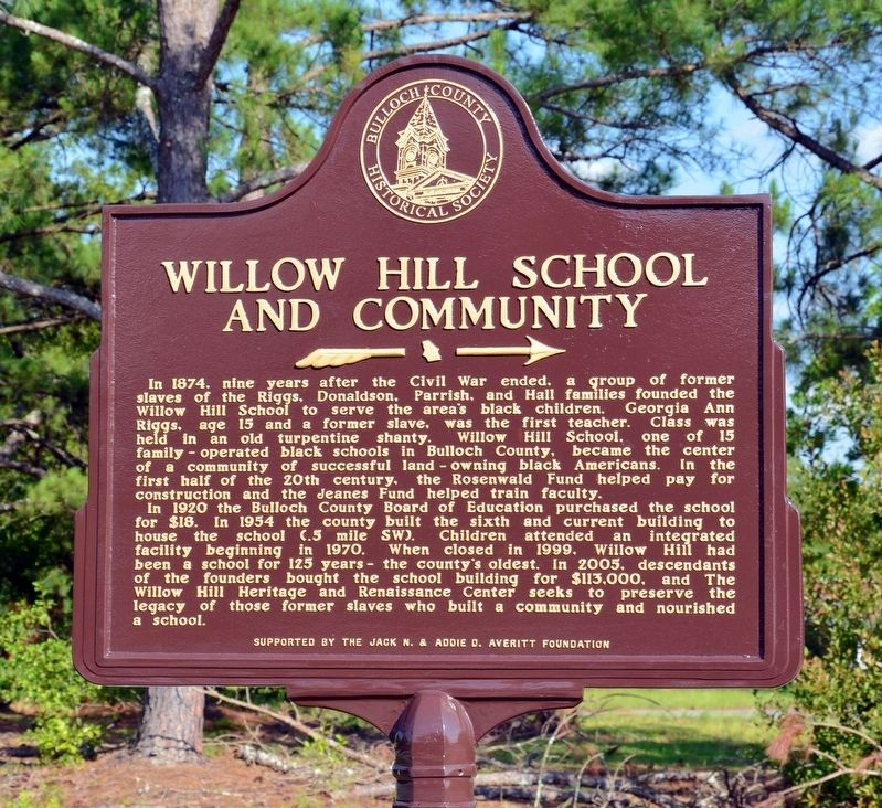Willow Hill School and Community Marker image. Click for full size.