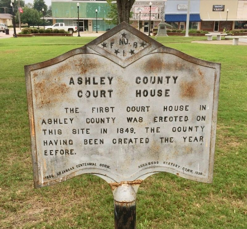 Ashley County Court House Marker image. Click for full size.