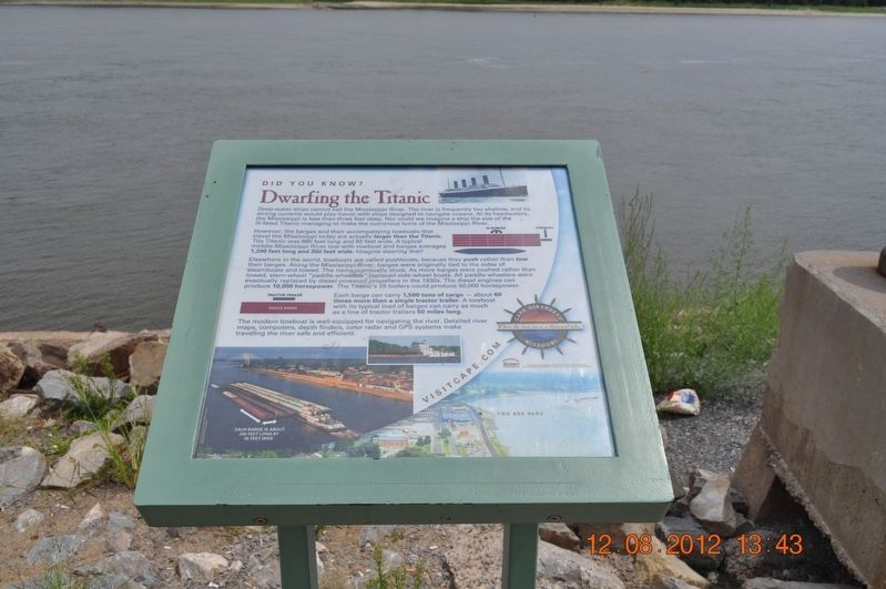 Dwarfing the Titanic Marker image. Click for full size.