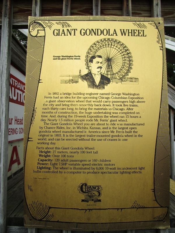 Giant Gondola Wheel Marker image. Click for full size.