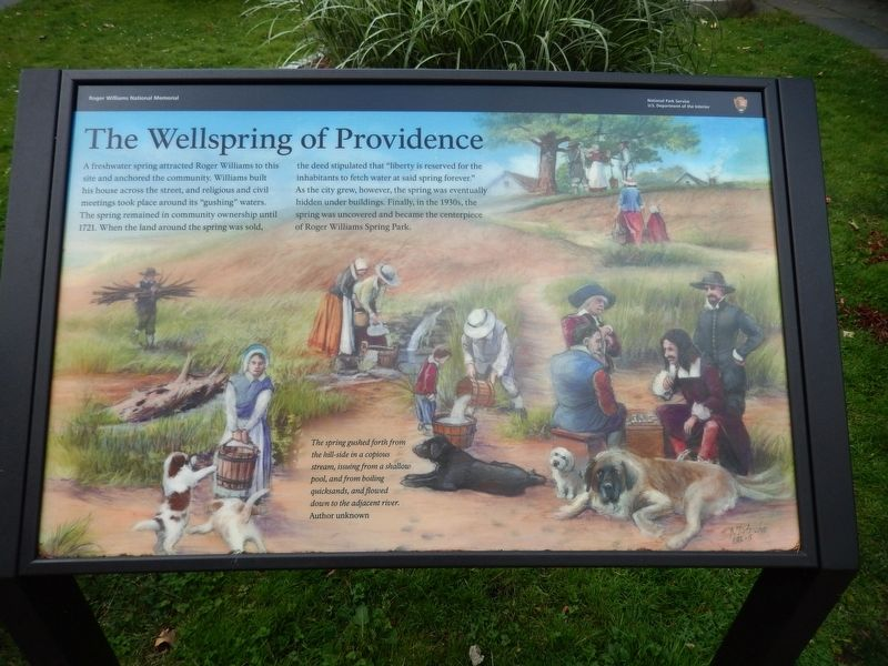 The Wellspring of Providence Marker image. Click for full size.