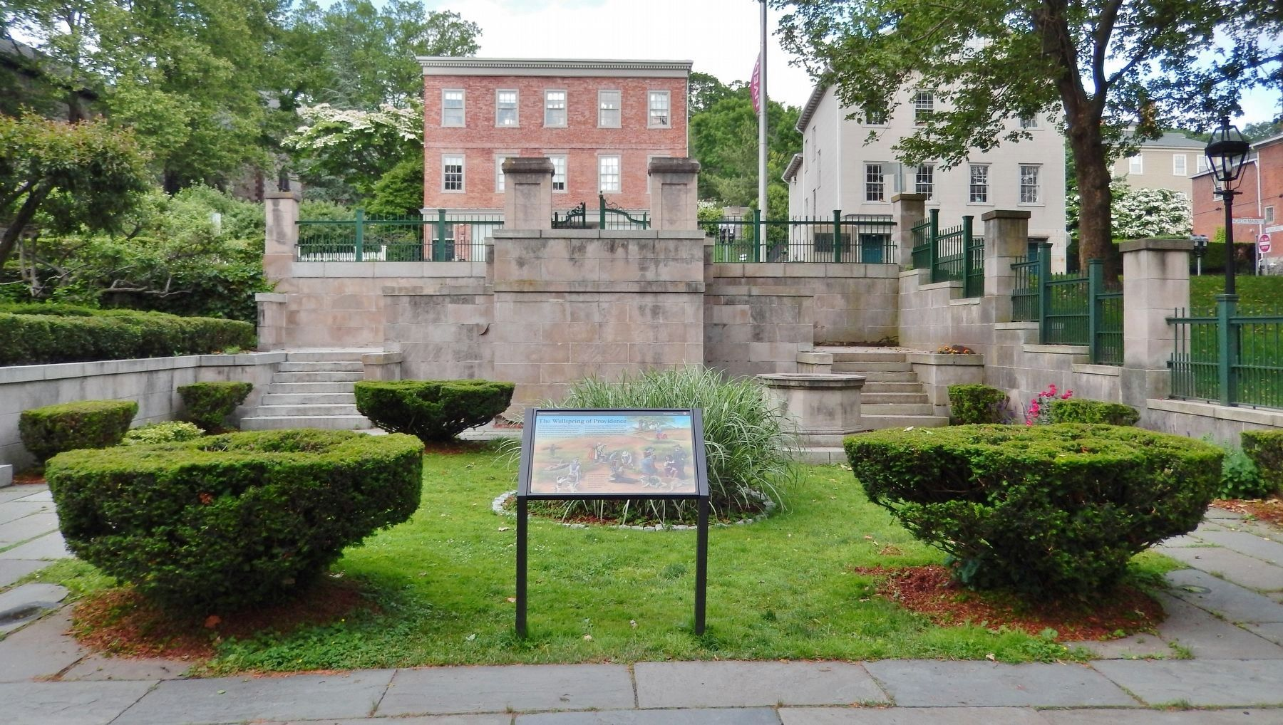 The Wellspring of Providence Marker (<b><i>wide view</b></i>) image. Click for full size.