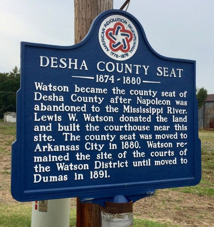 Desha County Seat Marker image. Click for full size.