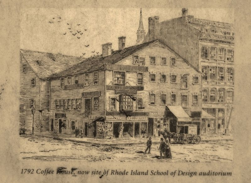 Marker Detail: 1792 Coffee House image. Click for full size.