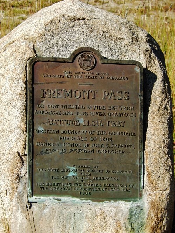 Freemont Pass Marker image. Click for full size.