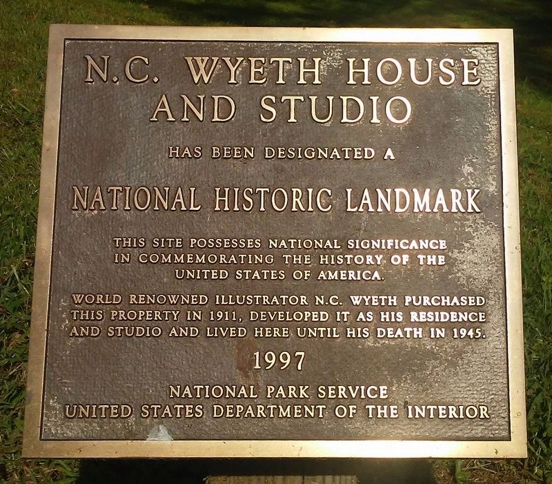 N.C. Wyeth House and Studio NHL Marker image. Click for full size.