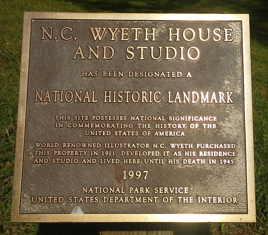 N.C. Wyeth House and Studio NHL Marker