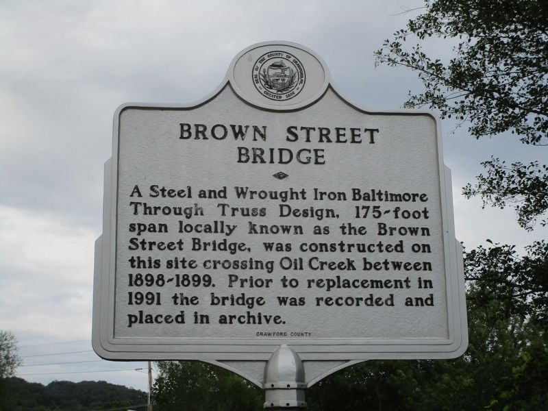 Brown Street Bridge Marker image. Click for full size.