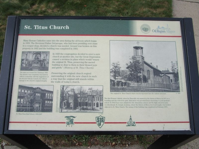 St. Titus Church Marker image. Click for full size.