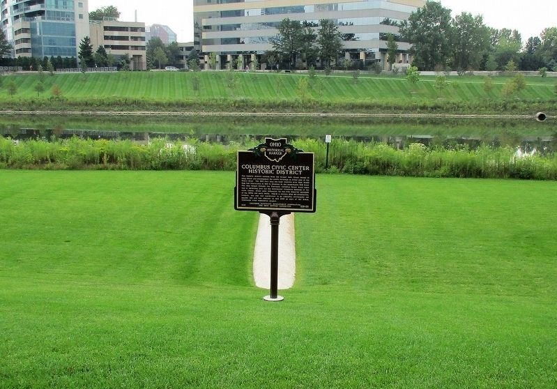 Columbus Civic Center Historic District Marker image. Click for full size.