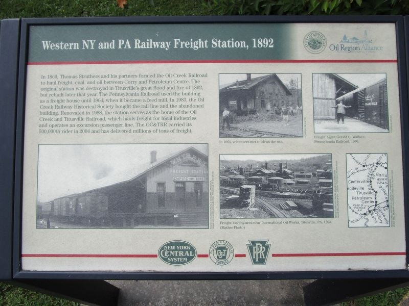 Western NY and PA Railway Freight Station, 1892 Marker image. Click for full size.