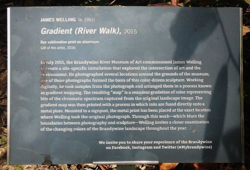<i>Gradient (River Walk)</i>, 2015 Marker image. Click for full size.