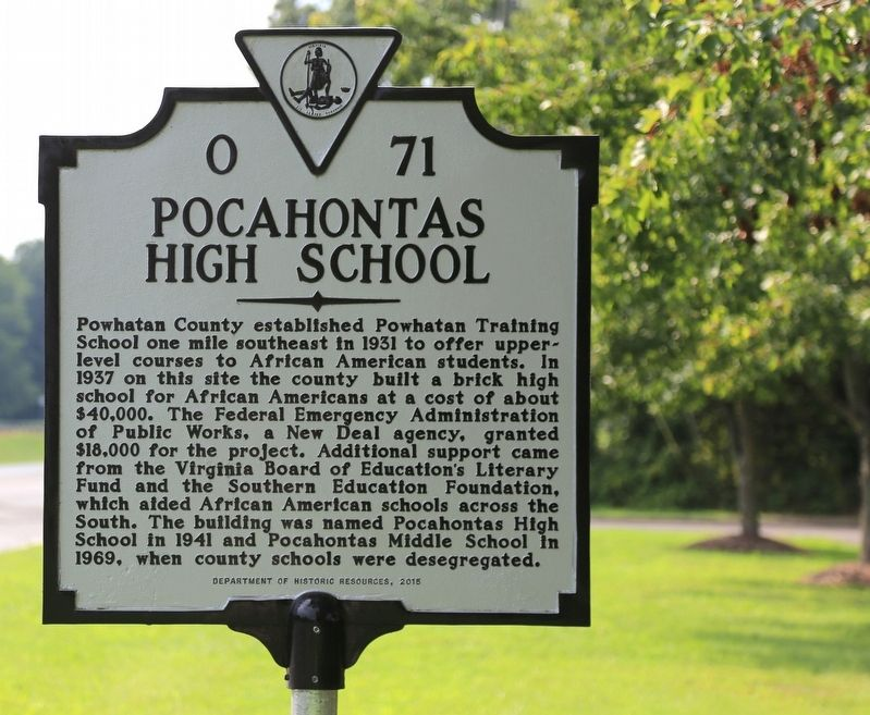 Pocahontas High School Marker image. Click for full size.