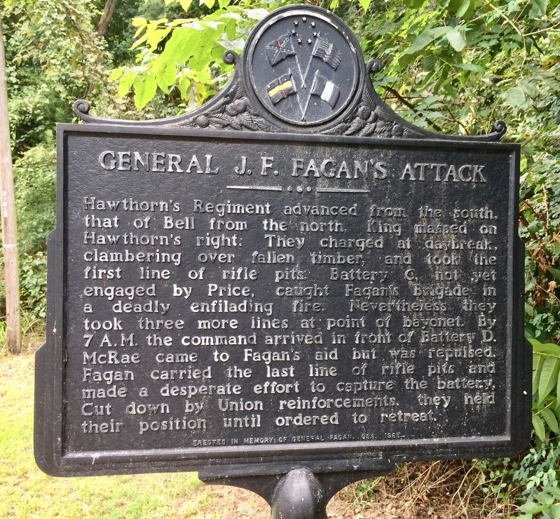 General J.F. Fagan's Attack Marker image. Click for full size.