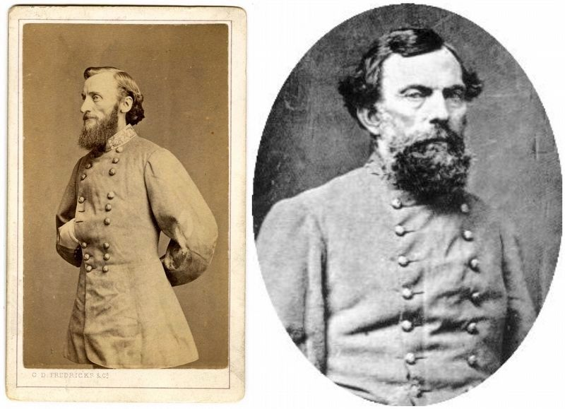 General's John Sappington Marmaduke and Theophilus H. Holmes. image. Click for full size.