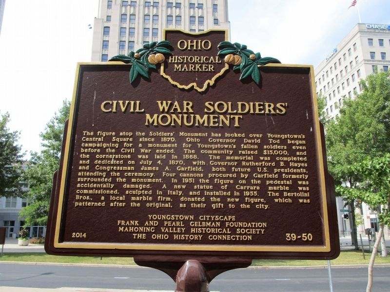 Civil War Soldiers' Monument Marker image. Click for full size.