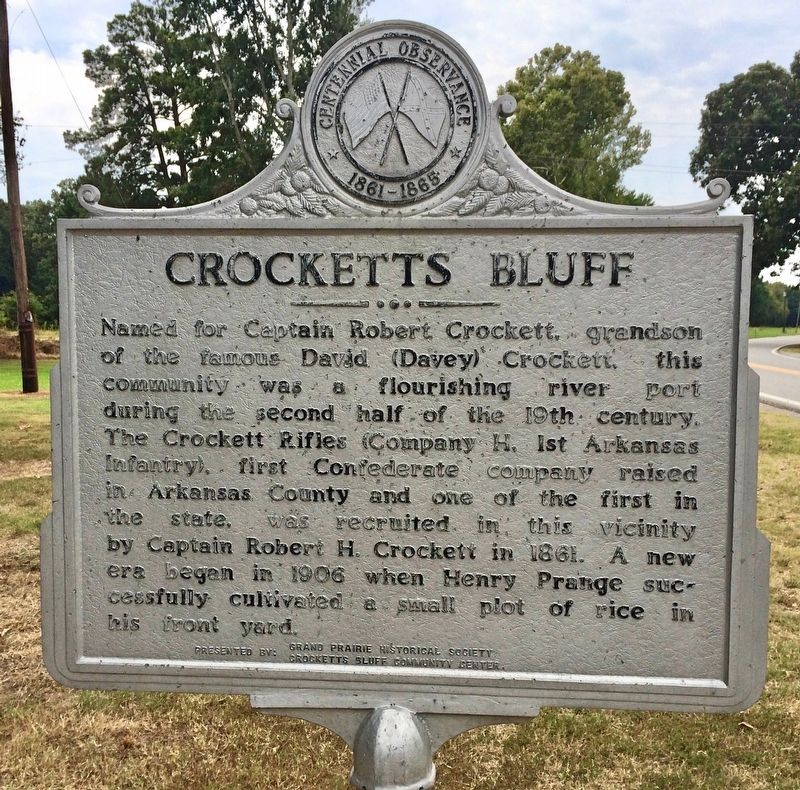 Crocketts Bluff Marker image. Click for full size.