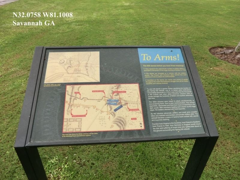 To Arms Marker image. Click for full size.