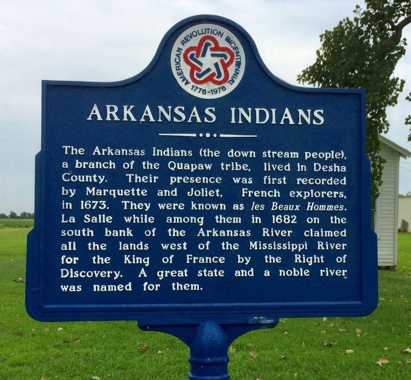 Arkansas Indians Marker image. Click for full size.