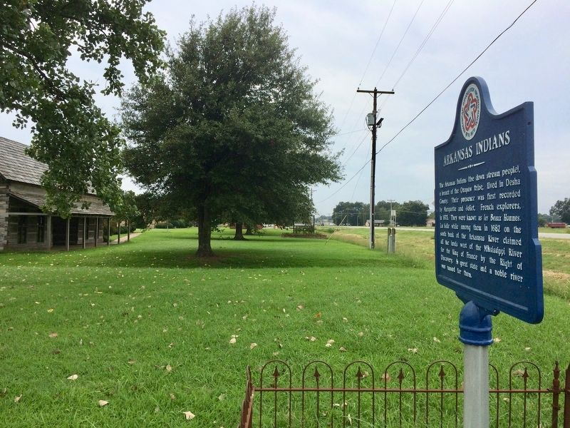 View of marker looking west on US-165 (AR-54). image. Click for full size.