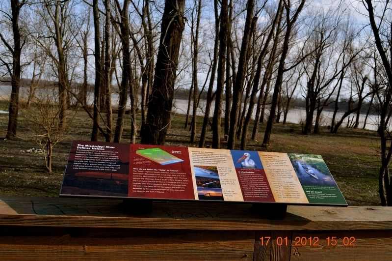 The Mississippi River Defines Helena Marker image. Click for full size.