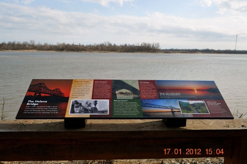 The Helena Bridge Marker image. Click for full size.