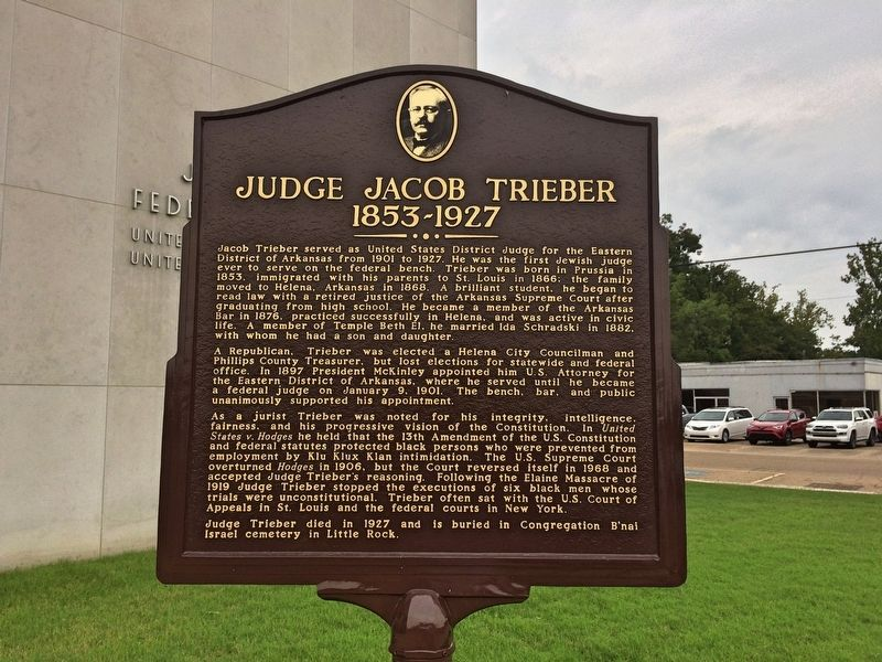 Judge Jacob Trieber Marker image. Click for full size.