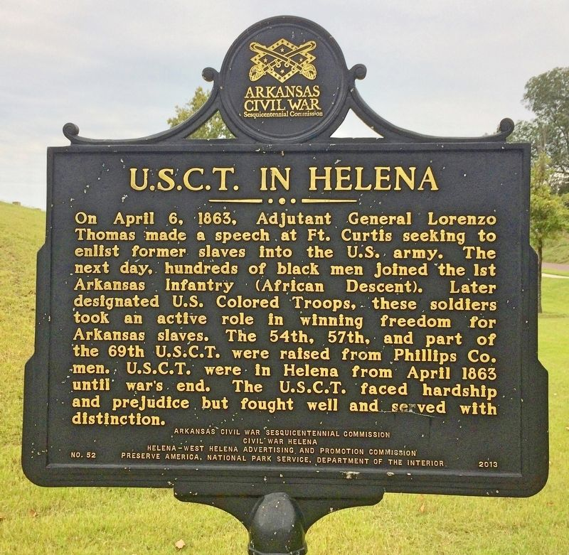 U.S.C.T. in Helena Marker image. Click for full size.