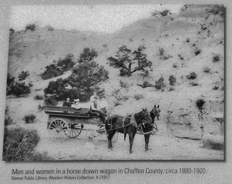 Marker Detail: Horses and Wagon image. Click for full size.