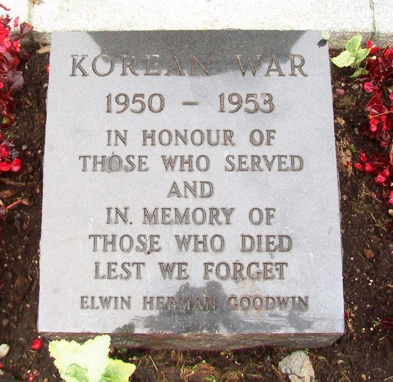 War Memorial Korean War Honored Dead image. Click for full size.