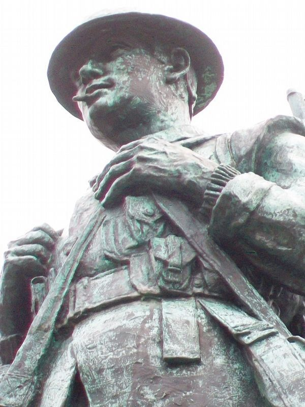 War Memorial Statue Detail image. Click for full size.