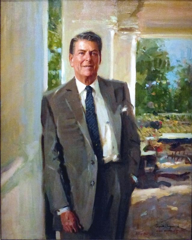 Ronald Reagan<br>1911-2004 image. Click for full size.