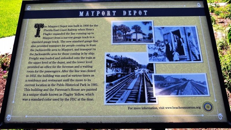Mayport Depot Marker image. Click for full size.