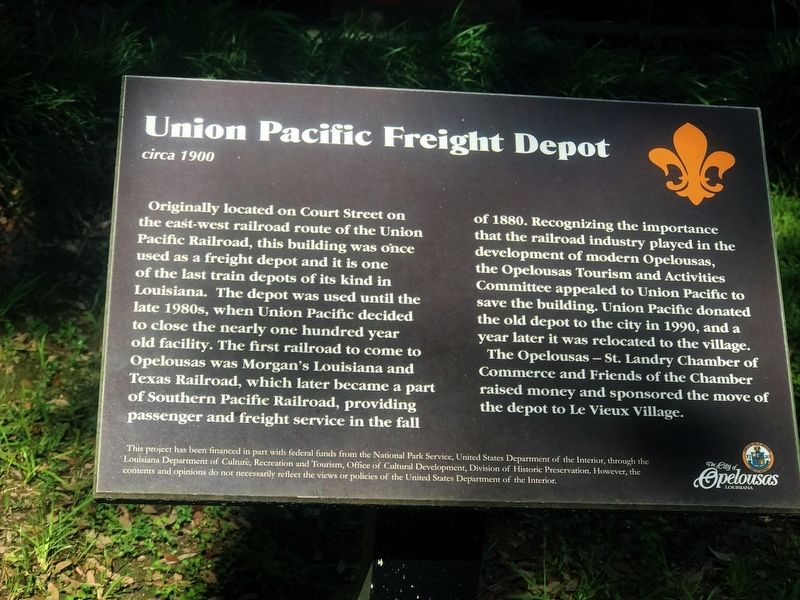 Union Pacific Freight Depot Marker image. Click for full size.