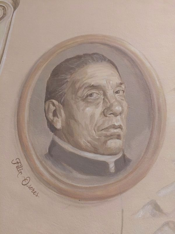 Félix Nabor Osores, from a mural at the Museum of the Conspiration in Querétaro. image. Click for full size.