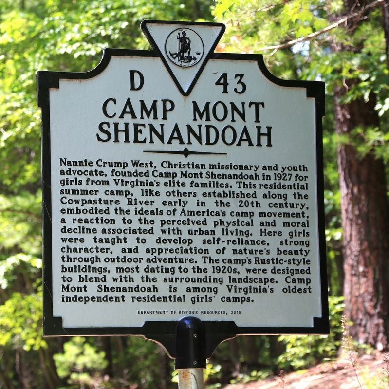 Camp Mont Shenandoah Marker image. Click for full size.