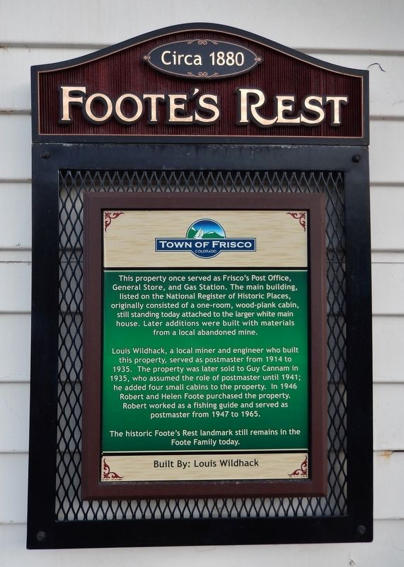 Foote's Rest Marker image. Click for full size.