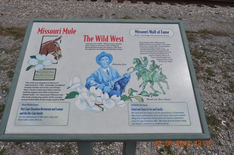 Missouri Mule, The Wild West Marker image. Click for full size.