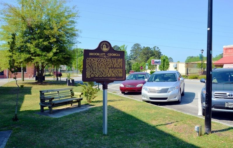 Brooklet, Georgia Marker image. Click for full size.