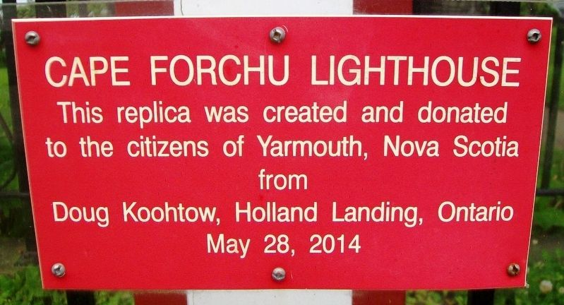 Cape Forchu Lighthouse Marker image. Click for full size.