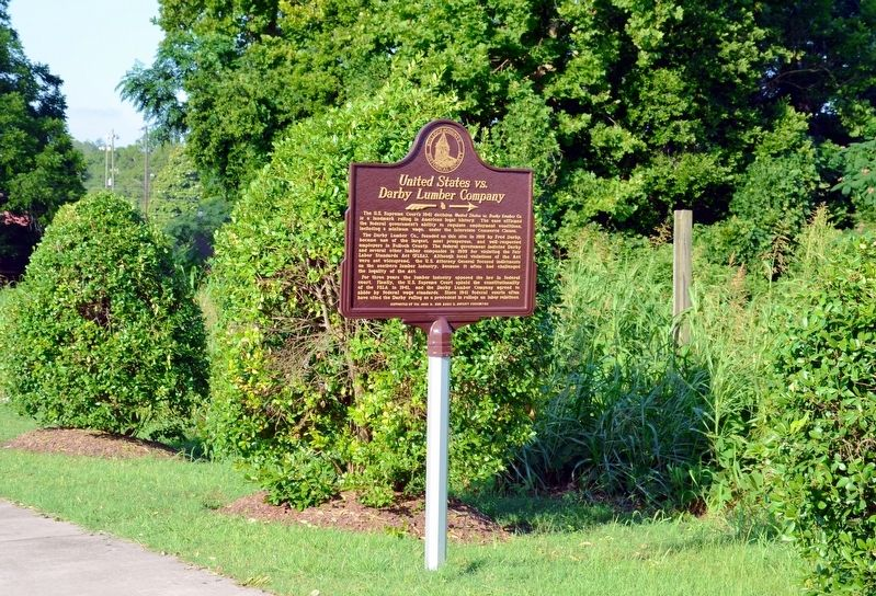 United States vs. Darby Lumber Company Marker image. Click for full size.
